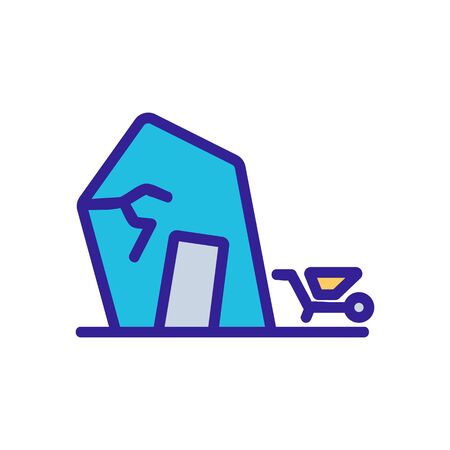 triangular roof shed icon vector. triangular roof shed sign. color symbol illustration