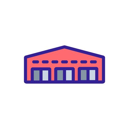 garage network icon vector. garage network sign. color symbol illustration