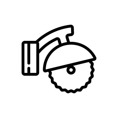 joiner circular saw mobile sawmill icon vector. joiner circular saw mobile sawmill sign. isolated contour symbol illustration