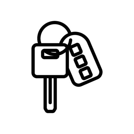key with keychain alarm control panel icon vector. key with keychain alarm control panel sign. isolated contour symbol illustration