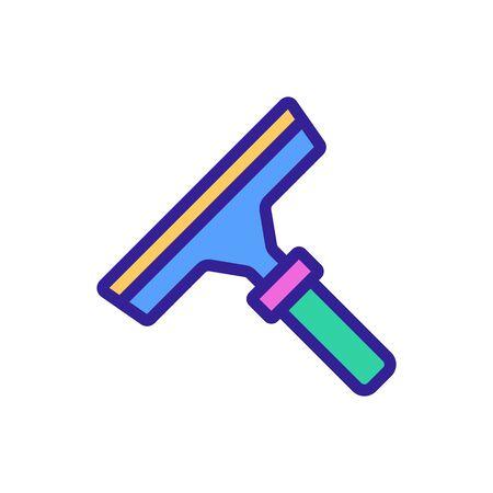 microfiber mop with adjustable handle icon vector. microfiber mop with adjustable handle sign. color symbol illustration Vectores