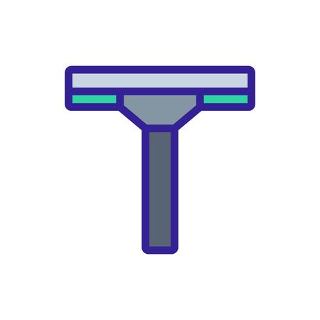 microfiber mop icon vector. microfiber mop sign. color symbol illustration