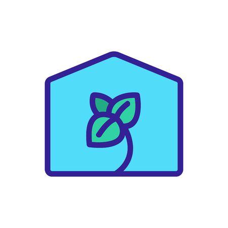 oregano in greenhouse icon vector. oregano in greenhouse sign. color symbol illustration