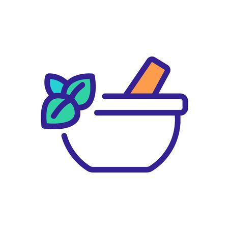 oregano spice mortar icon vector. oregano spice mortar sign. color symbol illustration