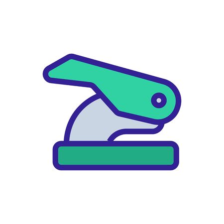 office hole punch side view icon vector. office hole punch side view sign. color symbol illustration
