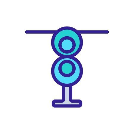 digital outdoor antennas icon vector. digital outdoor antennas sign. color symbol illustration
