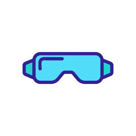 carpentry safety glasses icon vector. carpentry safety glasses sign. color symbol illustration