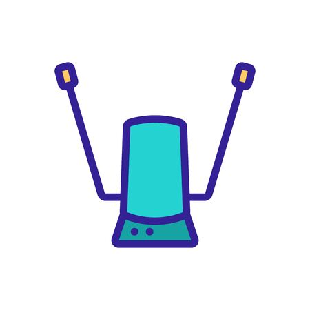 adapted antenna for receiving terrestrial television signals icon vector. adapted antenna for receiving terrestrial television signals sign. color symbol illustration