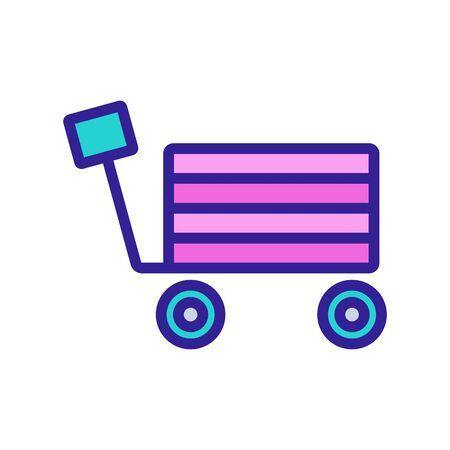 self-propelled truck icon vector. self-propelled truck sign. color symbol illustration Иллюстрация