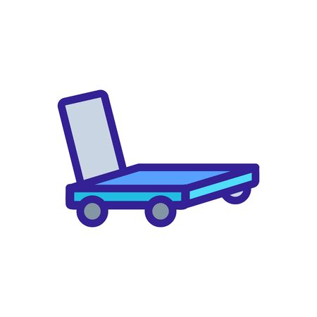 overall platform hand truck icon vector. overall platform hand truck sign. color symbol illustration