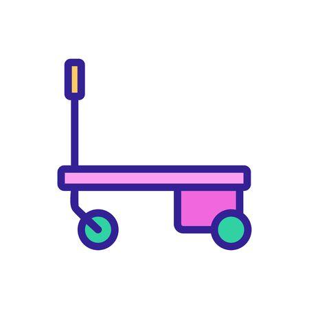 hydraulic trolley icon vector. hydraulic trolley sign. color symbol illustration Иллюстрация