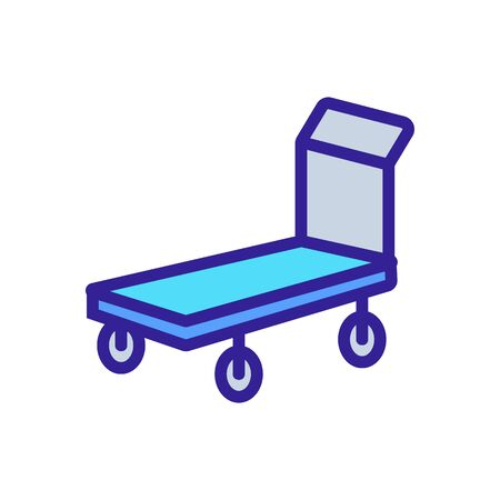 two wheeled trolleys front view icon vector. two wheeled trolleys front view sign. color symbol illustration