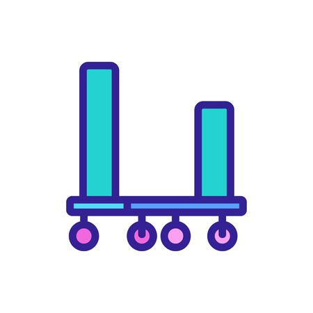 mobile freight trolleys icon vector. mobile freight trolleys sign. color symbol illustration Иллюстрация