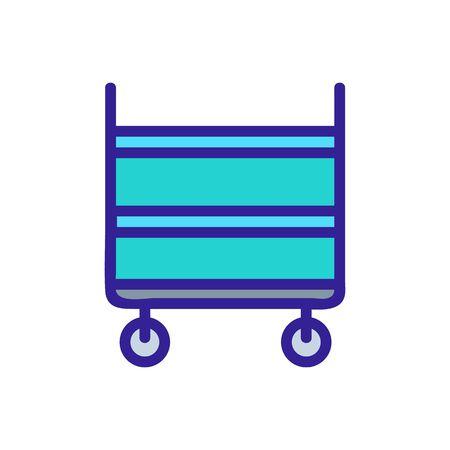 shelf cargo trolleys icon vector. shelf cargo trolleys sign. color symbol illustration Иллюстрация