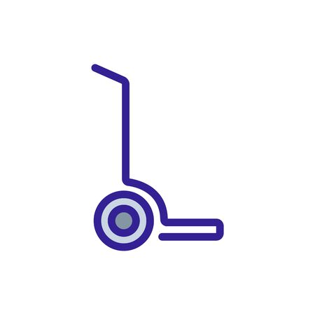 unicycle wheeled trolleys icon vector. unicycle wheeled trolleys sign. color symbol illustration Иллюстрация