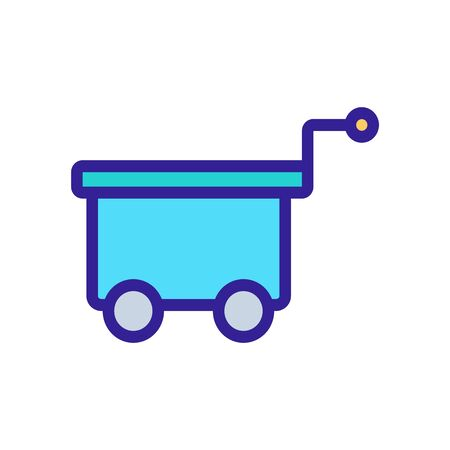 container freight trolleys icon vector. container freight trolleys sign. color symbol illustration Иллюстрация