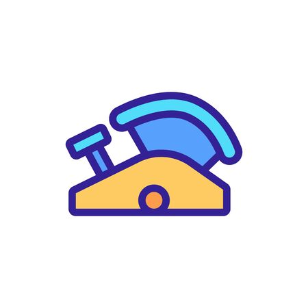 joiner cutting device icon vector. joiner cutting device sign. color symbol illustration