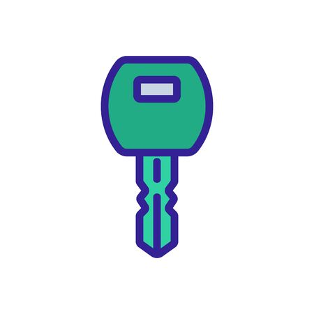 programmed chip key icon vector. programmed chip key sign. color symbol illustration Ilustração