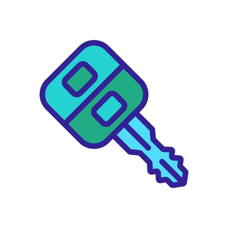 car key with remote control icon vector. car key with remote control sign. color symbol illustration