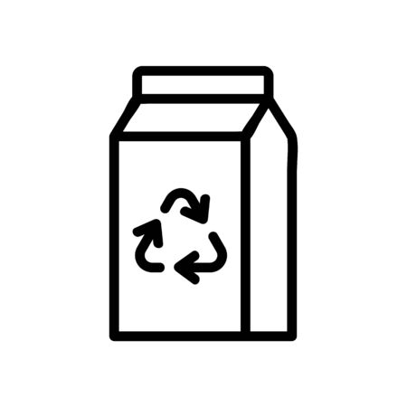 recycling packaged icon vector. recycling packaged sign. isolated contour symbol illustration