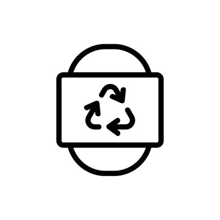recycling for global good icon vector. recycling for global good sign. isolated contour symbol illustration