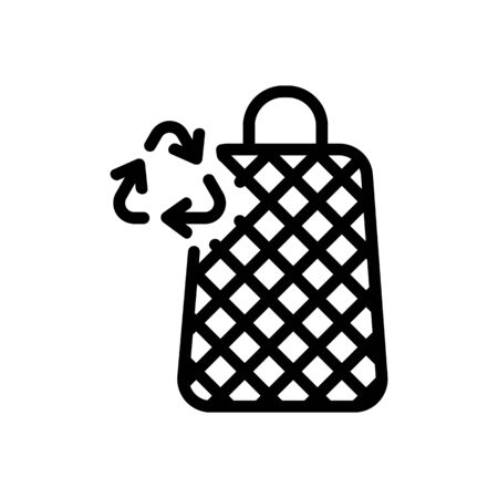 recycling mesh bags icon vector. recycling mesh bags sign. isolated contour symbol illustration