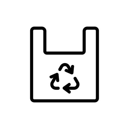 bag recycling icon vector. bag recycling sign. isolated contour symbol illustration