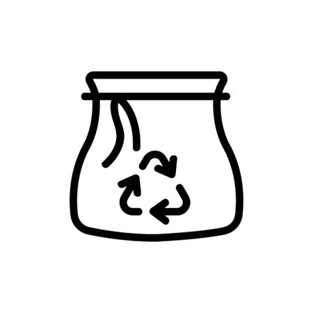 recycling garbage bags icon vector. recycling garbage bags sign. isolated contour symbol illustration Illustration
