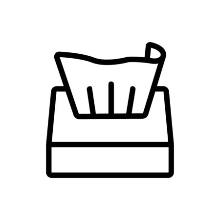stretched napkin box icon vector. stretched napkin box sign. isolated contour symbol illustration