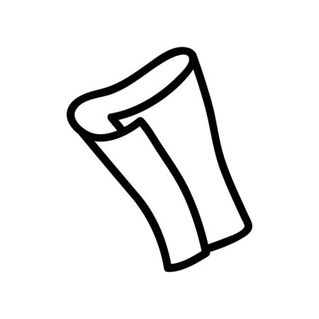 rolled up napkin icon vector. rolled up napkin sign. isolated contour symbol illustration