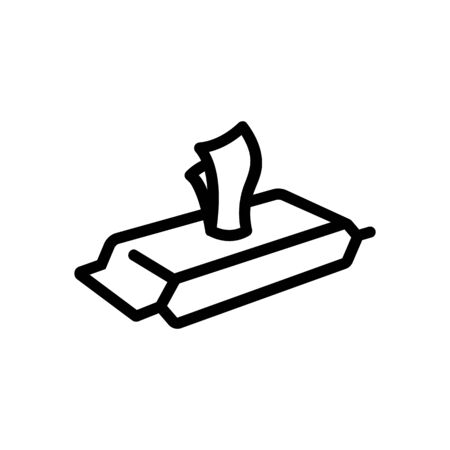 pack of wet wipes view at angle icon vector. pack of wet wipes view at angle sign. isolated contour symbol illustration Vettoriali