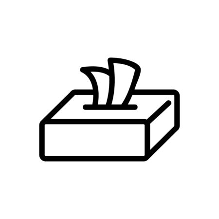 box of dry wipes icon vector. box of dry wipes sign. isolated contour symbol illustration Çizim