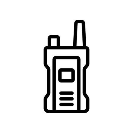 compact shockproof walkie-talkie icon vector. compact shockproof walkie-talkie sign. isolated contour symbol illustration