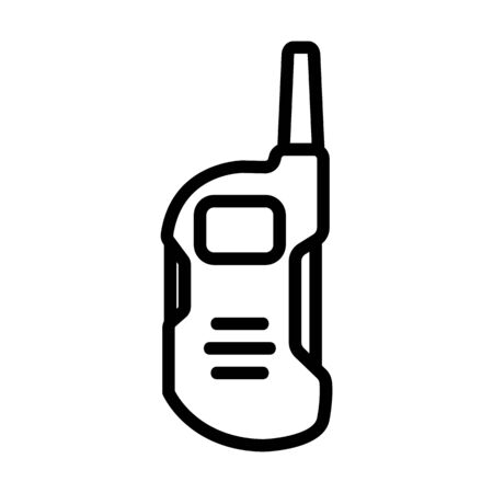 amateur walkie talkie icon vector. amateur walkie talkie sign. isolated contour symbol illustration
