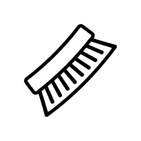 solid shoes brush scallop icon vector. solid shoes brush scallop sign. isolated contour symbol illustration Ilustracja