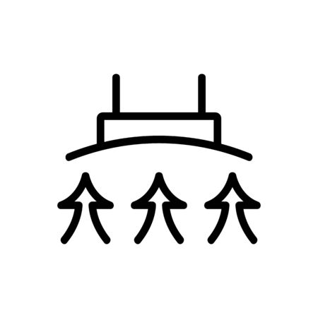 cooker hood evaporation icon vector. cooker hood evaporation sign. isolated contour symbol illustration Ilustracja