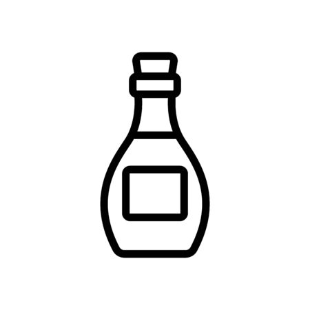 kind of storage bottle icon vector. kind of storage bottle sign. isolated contour symbol illustration Ilustracja