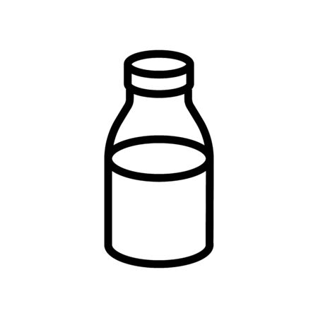 canned liquid jar icon vector. canned liquid jar sign. isolated contour symbol illustration