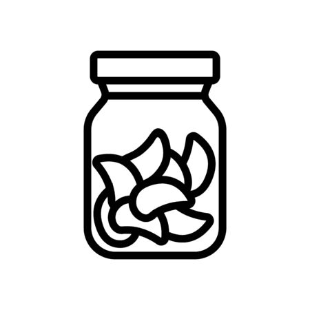 canned food can icon vector. canned food can sign. isolated contour symbol illustration