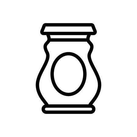 pickled jar icon vector. pickled jar sign. isolated contour symbol illustration
