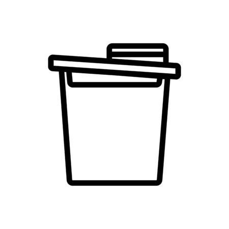 food cereal storage container icon vector. food cereal storage container sign. isolated contour symbol illustration Иллюстрация
