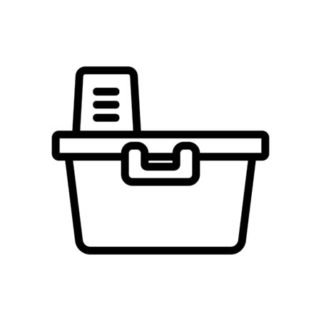 storage container icon vector. storage container sign. isolated contour symbol illustration