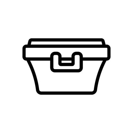 food container with latch handle icon vector. food container with latch handle sign. isolated contour symbol illustration