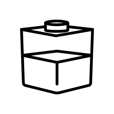 square liquid container icon vector. square liquid container sign. isolated contour symbol illustration