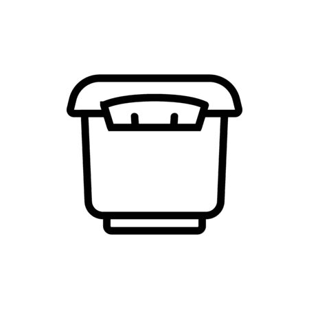 tightly closed storage container icon vector. tightly closed storage container sign. isolated contour symbol illustration