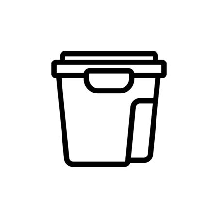 food container set icon vector. food container set sign. isolated contour symbol illustration