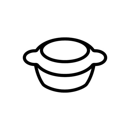 steaming container icon vector. steaming container sign. isolated contour symbol illustration Иллюстрация