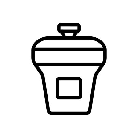 food container rectangular upright with lid icon vector. food container rectangular upright with lid sign. isolated contour symbol illustration