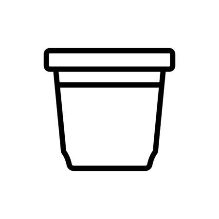 food container rectangular upright icon vector. food container rectangular upright sign. isolated contour symbol illustration