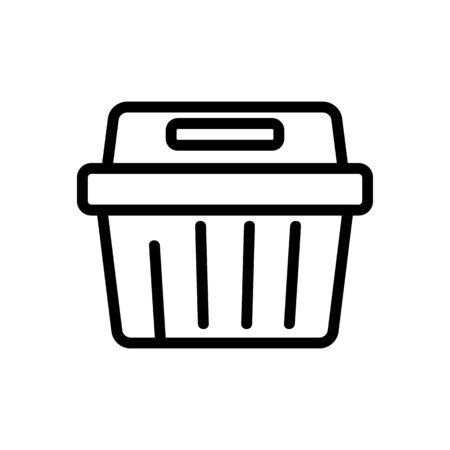 rectangular food container icon vector. rectangular food container sign. isolated contour symbol illustration Иллюстрация